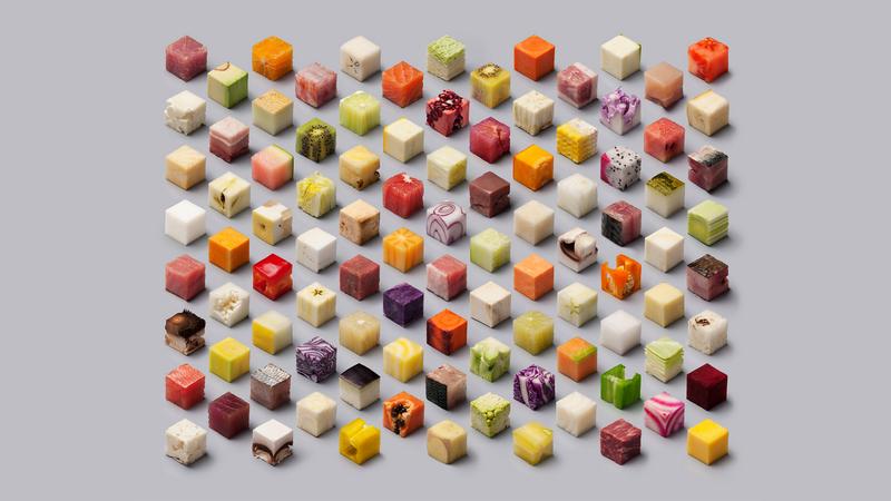 Нарезка кубиками-блендеры