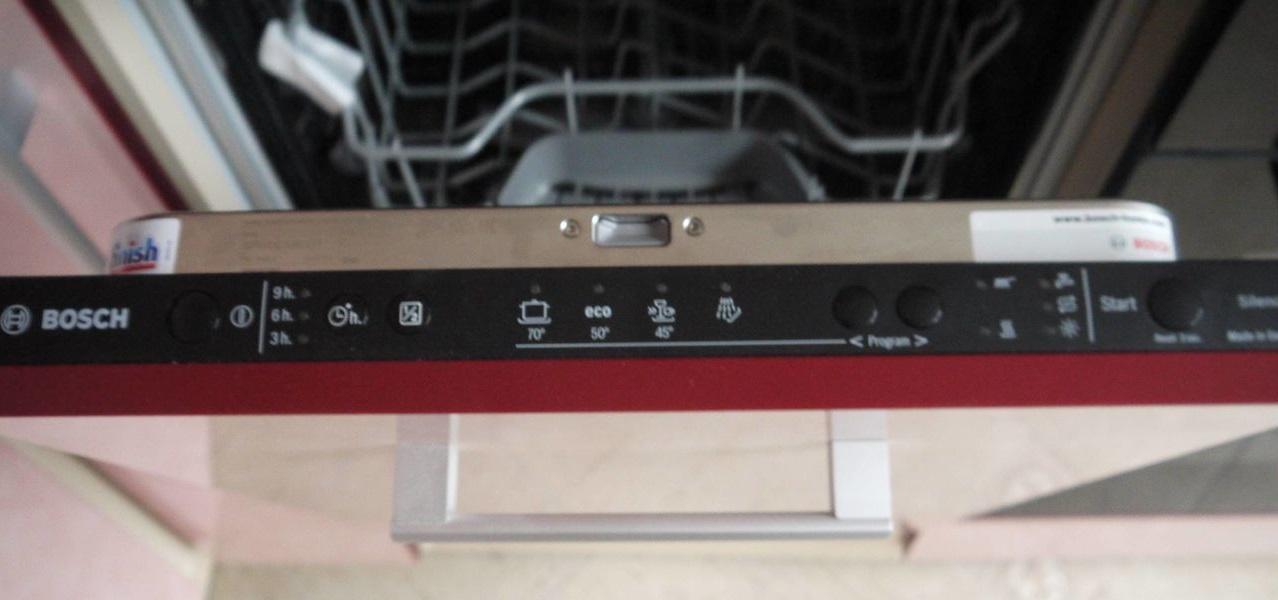 Рейтинг посудомоечных машин на рынке Украины - панель управления посудомоечной машины