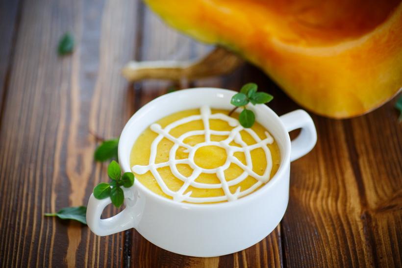 Тыквенный суп-меню на Хэллоуин