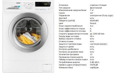 Zanussi ZWSH7121VS (стиральная машина Zanussi ZWSH7121VS)