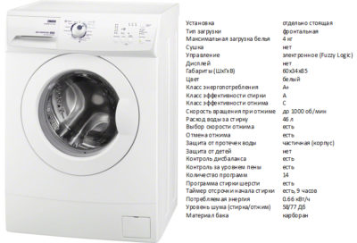 Zanussi ZWSO6100 V (пральна машина Zanussi ZWSO6100 V)