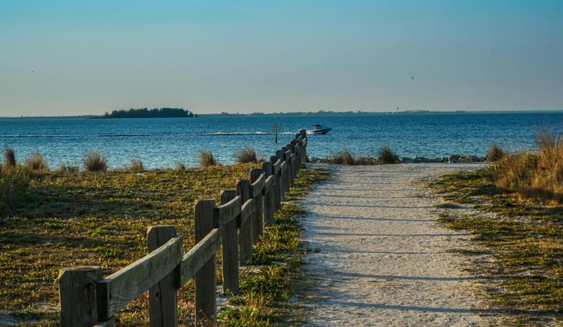 florida beach-красота осенней природы