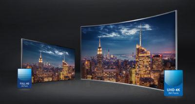 Два изогнутых телевизора