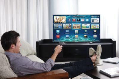 Телевизор со значками на экране