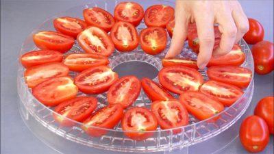 Помидоры в сушилке для фруктов и овощей
