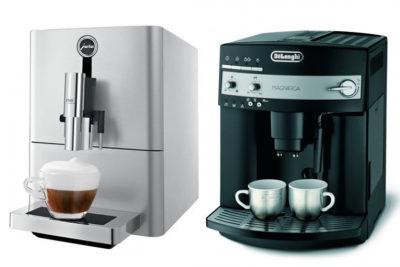 кофемашины Jura и Delonghi