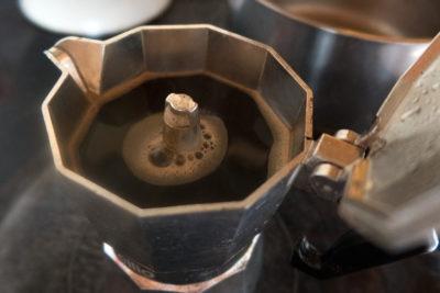 гейзерная кофеварка приготовление