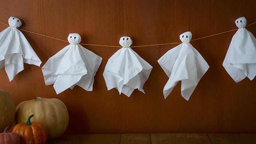 halloween-гирлянда из привидений