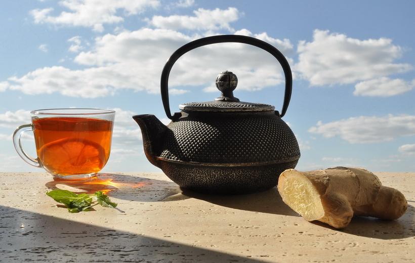 Чай с имбирем и лимоном-для иммунитета