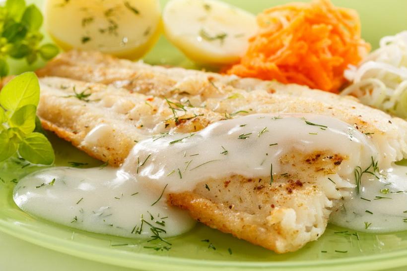 Филе белой рыбы-в духовке