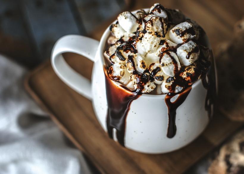 Горячий шоколад с маршмеллоу-как приготовить