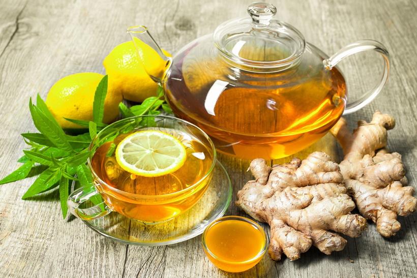 Имбирный чай-с лимоном