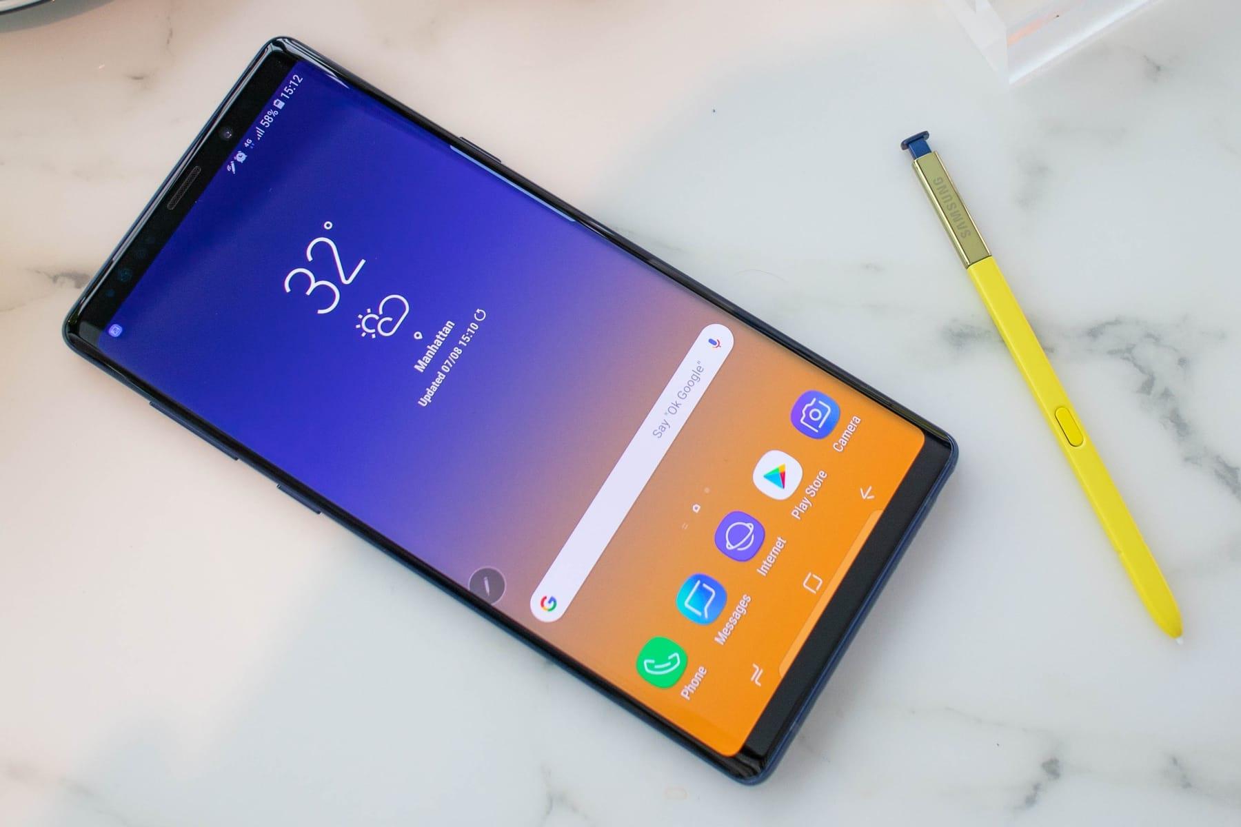 Как изменились смартфоны за 5 лет - Samsung galaxy Note 9