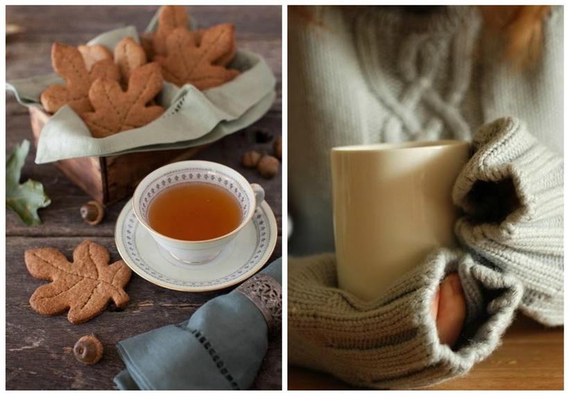 Осень-чай с печеньем
