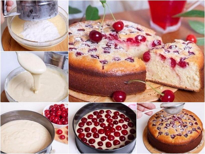 Пирог с вишней-рецепт