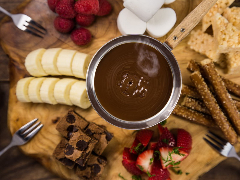 Шоколадное фондю-для сластен
