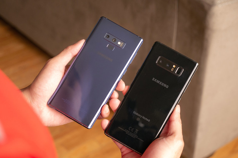 Сравниваем Samsung Galaxy Note 9 с Galaxy Note 8 - дизайн двух смартфонов