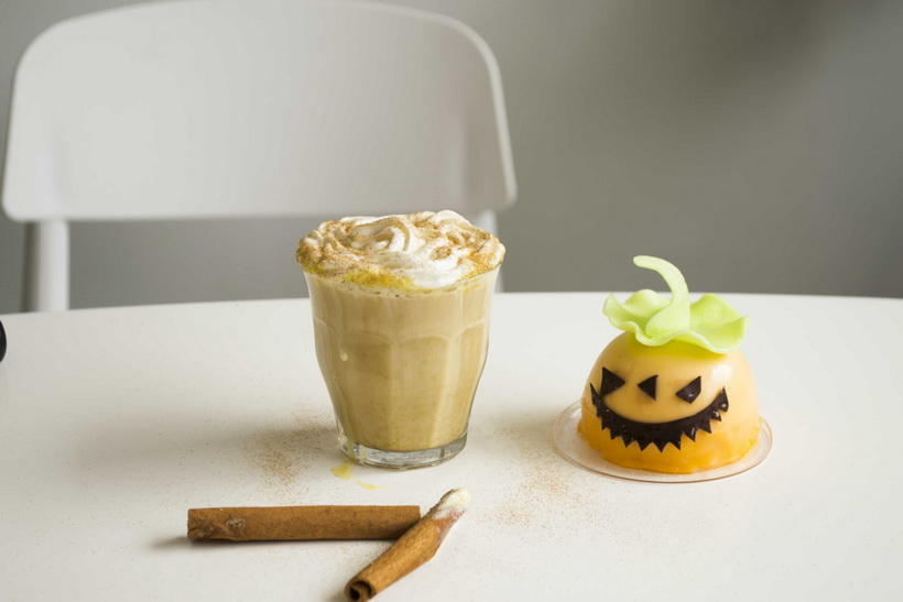 Тыквенное латте-Хэллоуин