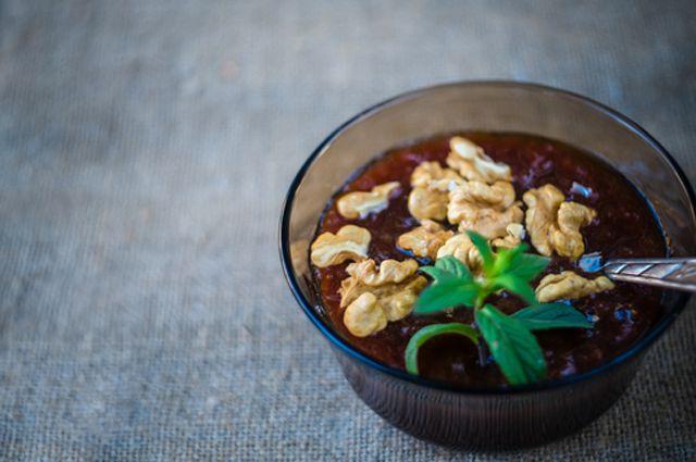 Варенье из баклажанов-с орехами