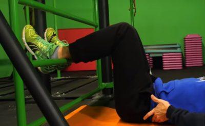 Правильное положение при стандартном упражнении