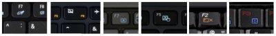 Приклади клавіш, які використовуються для управління тачпадом