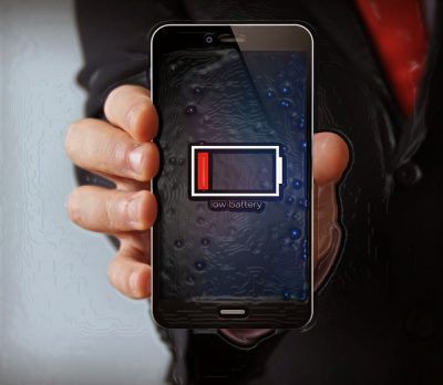 Смартфон с низким зарядом