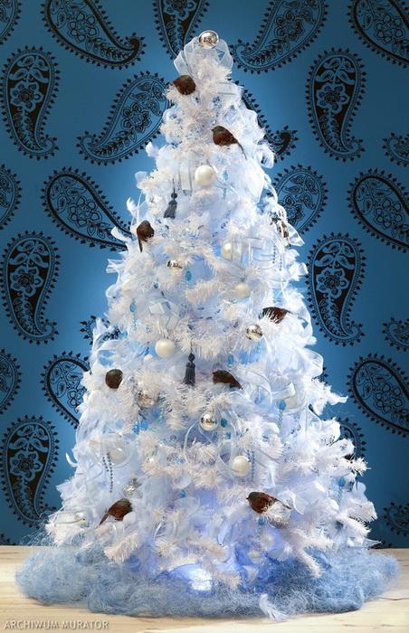 Белоснежная елка-фото 2