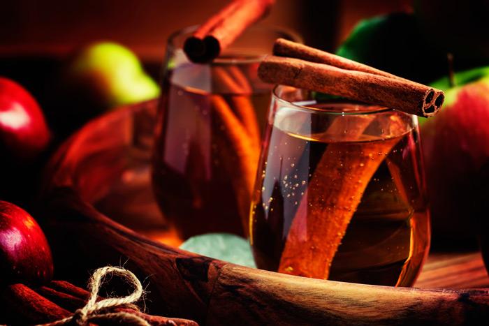 Чай с корицей-подача