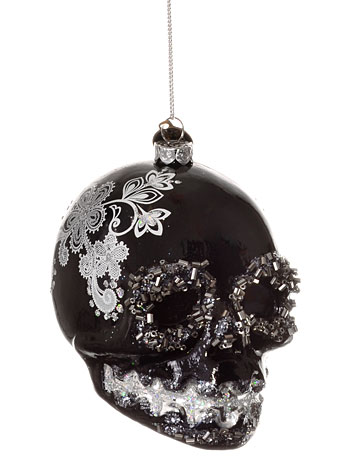 Черные новогодние игрушки-стиль