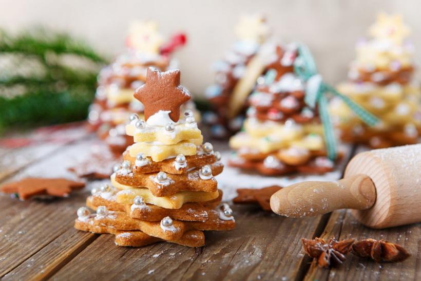 Елка из пряников-сладкий Новый год.