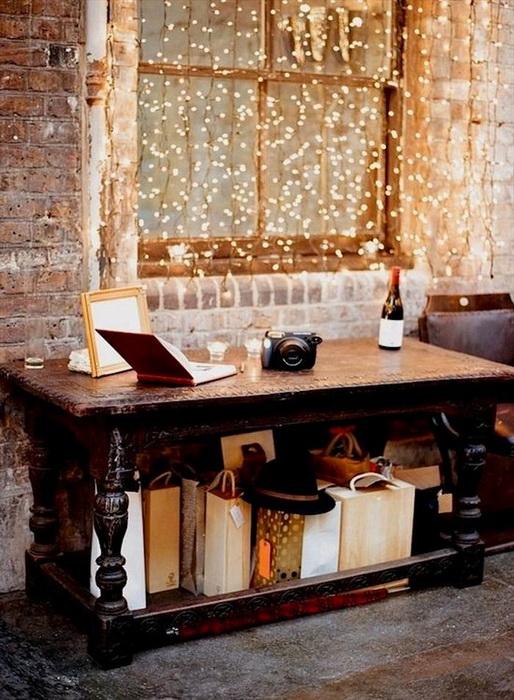 Гирлянды в интерьере-новогоднее настроение фото 1