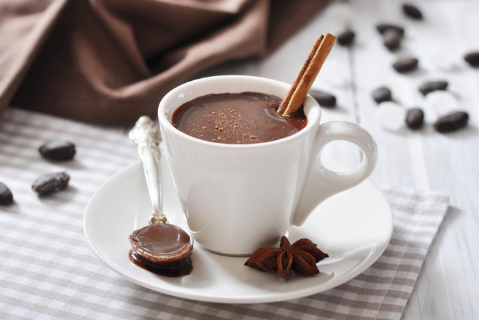 Горячий шоколад-подача