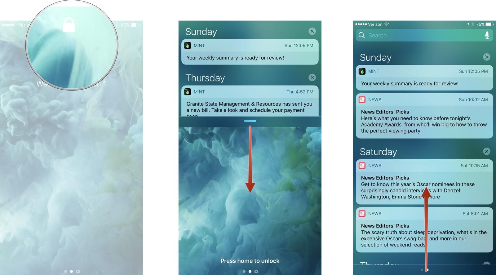 Как использовать Центр уведомлений на iPhone и iPad - Центр уведомлений на смартфоне