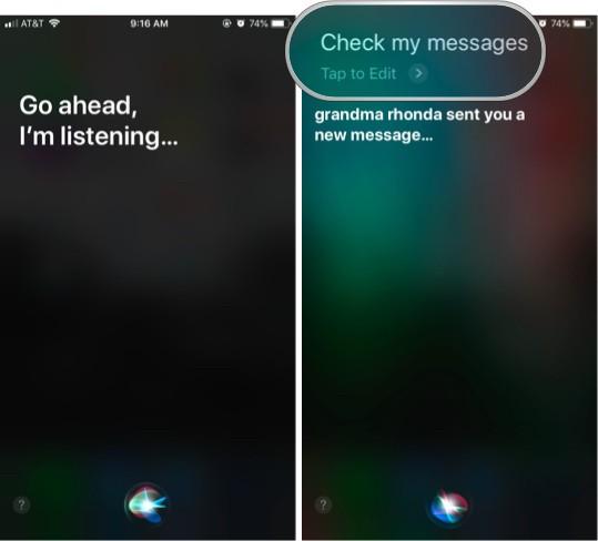Как использовать iMessage с Siri - новые сообщения