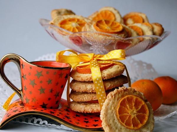 Мандариновое печенье-выпечка