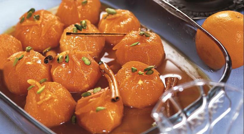 Мандарины в карамели-десерт на Новый год