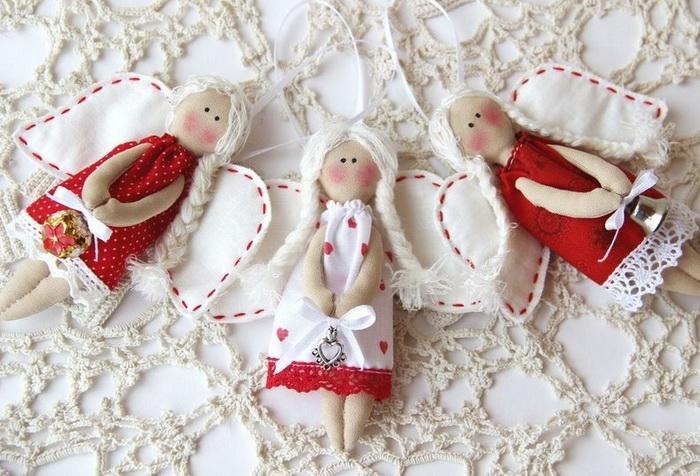 Новогодние ангелочки-своими руками