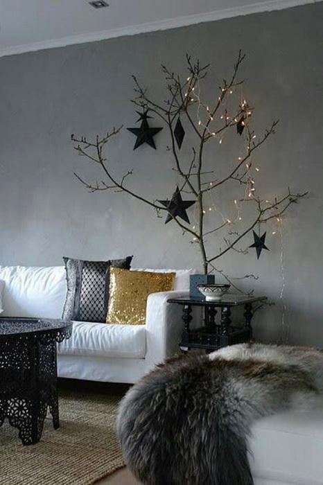 Новогодние подушки и настроение-декор помещения фото 3
