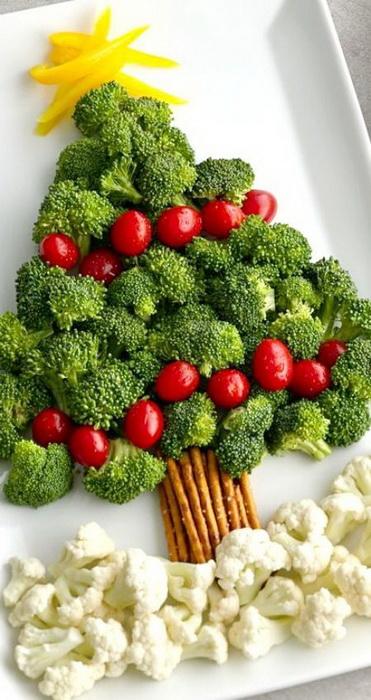 Овощи-в виде елочки