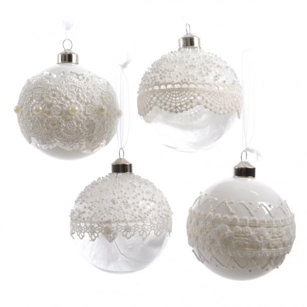 Прозрачные кружевные шары-фото