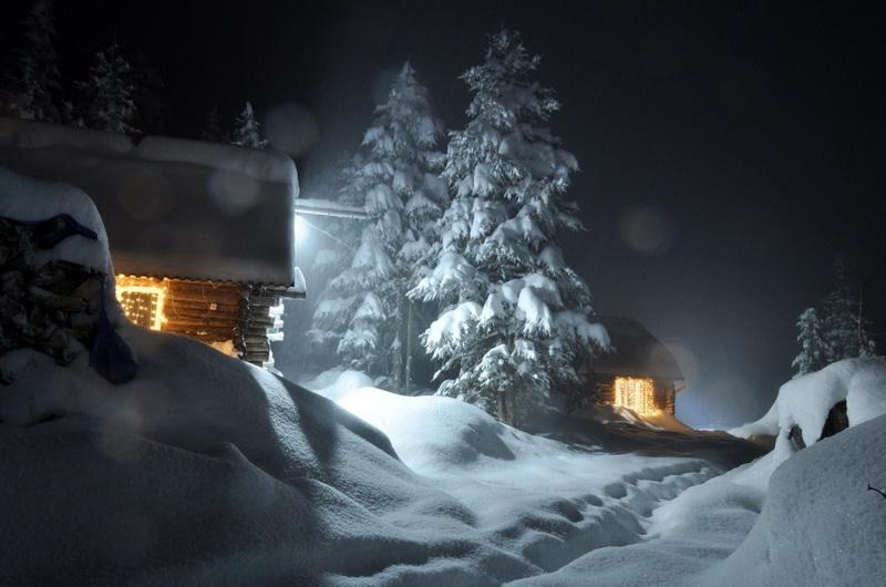 Снег-новогодняя сказка