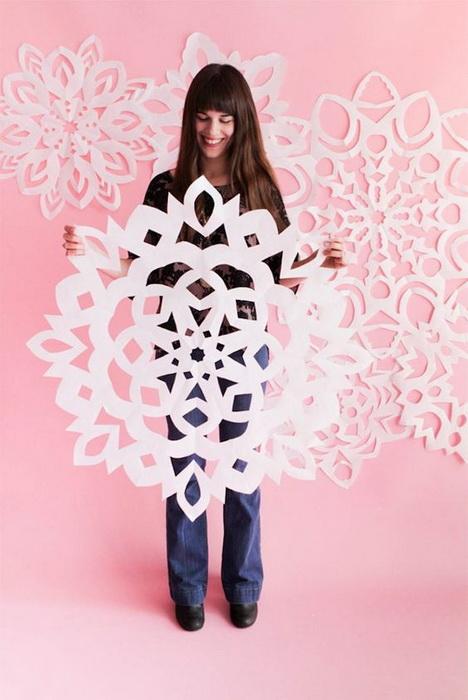 Снежный декор-фото