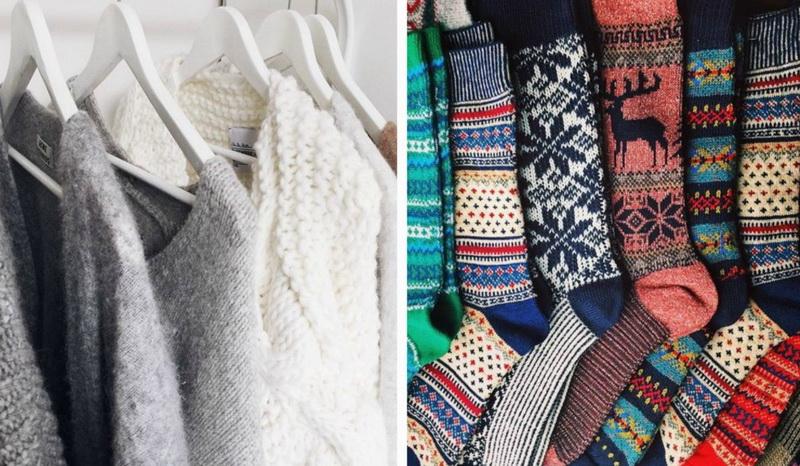 Свитер и носки-уютная одежда
