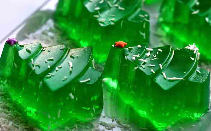 Желейная елка-фото