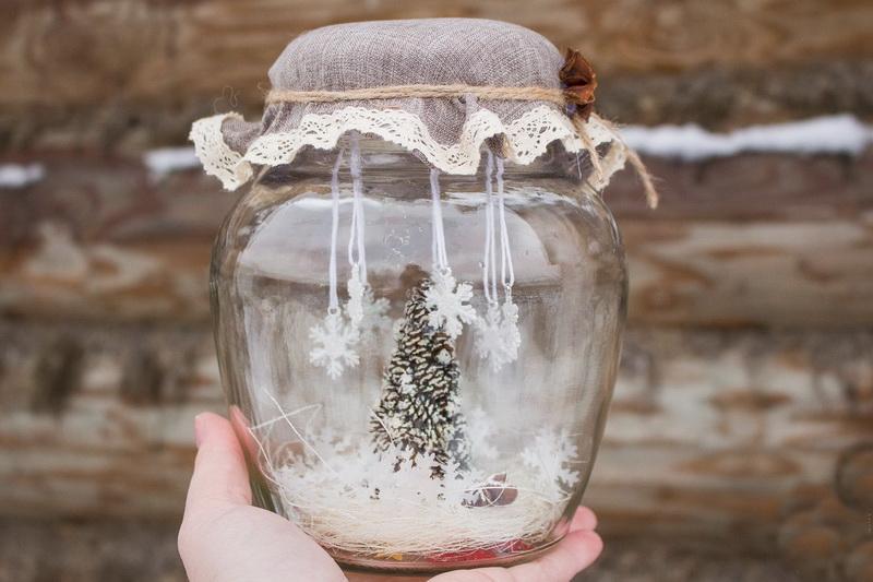 Зима в банке-hand made