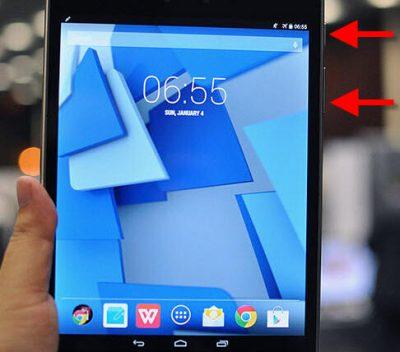 Як зробити скріншот на планшеті