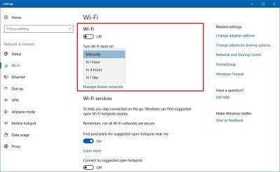 Включение Wi-Fi программно
