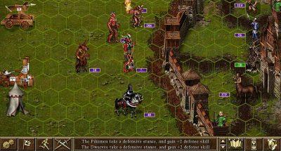 Поле сражения в игре Heroes of Might and Magic 3