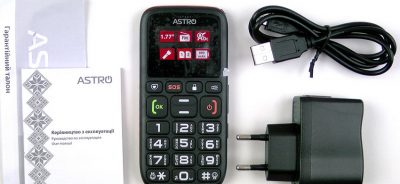 Кнопковий телефон Astro B181 Black / Orange