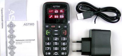 Кнопочный телефон Astro B181 Black/Orange